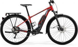 Meride E-bike rood met zwart